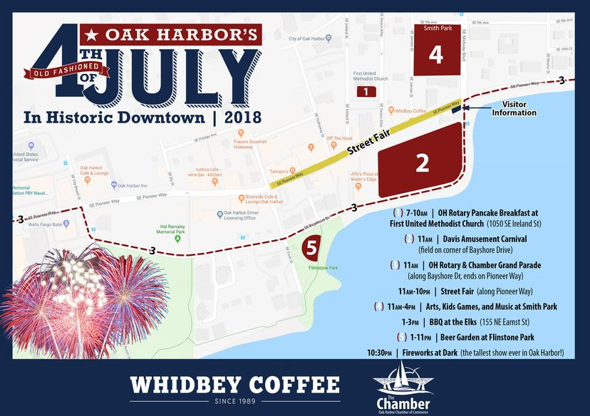 Forth of July Map, Whidbey Island, Forth of July